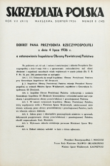 Skrzydlata Polska. 1936, nr8