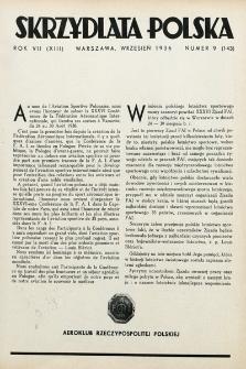 Skrzydlata Polska. 1936, nr9