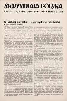 Skrzydlata Polska. 1937, nr7