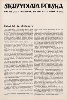 Skrzydlata Polska. 1937, nr8