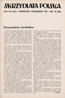 Skrzydlata Polska. 1937, nr10