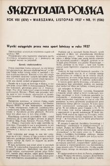 Skrzydlata Polska. 1937, nr11