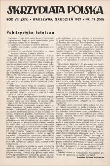 Skrzydlata Polska. 1937, nr12