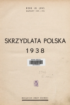 Skrzydlata Polska. 1938, spis treści