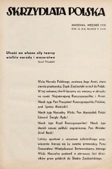 Skrzydlata Polska. 1938, nr9
