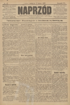 Naprzód : organ centralny polskiej partyi socyalno-demokratycznej. 1907, nr47