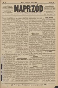Naprzód : organ centralny polskiej partyi socyalno-demokratycznej. 1907, nr76