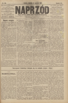 Naprzód : organ centralny polskiej partyi socyalno-demokratycznej. 1907, nr108