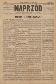 Naprzód : organ centralny polskiej partyi socyalno-demokratycznej. 1907, nr170 [nakład pierwszy skonfiskowany]