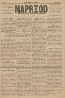 Naprzód : organ centralny polskiej partyi socyalno-demokratycznej. 1907, nr172