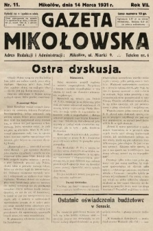 Gazeta Mikołowska. 1931, nr11