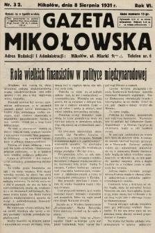 Gazeta Mikołowska. 1931, nr32