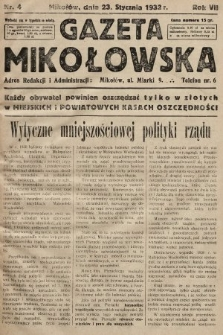 Gazeta Mikołowska. 1932, nr4