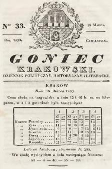 Goniec Krakowski : dziennik polityczny, historyczny i literacki. 1830, nr33