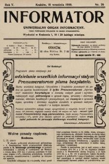 Informator : uniwersalny organ informacyjny. 1908, nr26