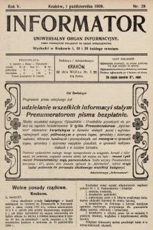 Informator : uniwersalny organ informacyjny. 1908, nr28