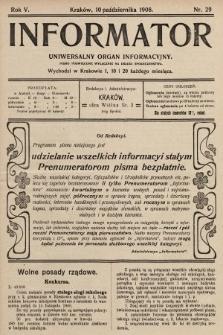 Informator : uniwersalny organ informacyjny. 1908, nr29