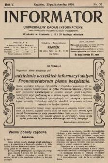 Informator : uniwersalny organ informacyjny. 1908, nr30