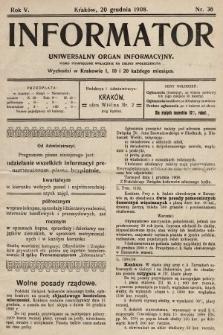 Informator : uniwersalny organ informacyjny. 1908, nr36