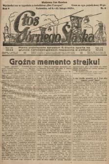 Głos Górnego Śląska : pismo poświęcone sprawom G. Śląska oparte na gruncie narodowo-polskim niezależne w polityce. 1929, nr6