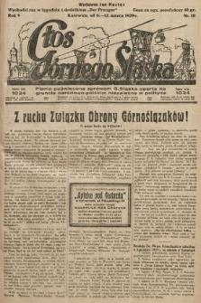 Głos Górnego Śląska : pismo poświęcone sprawom G. Śląska oparte na gruncie narodowo-polskim niezależne w polityce. 1929, nr10