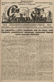 Głos Górnego Śląska : pismo poświęcone sprawom G. Śląska oparte na gruncie narodowo-polskim niezależne w polityce. 1929, nr18
