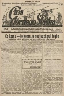 Głos Górnego Śląska : pismo poświęcone sprawom G. Śląska oparte na gruncie narodowo-polskim niezależne w polityce. 1929, nr20