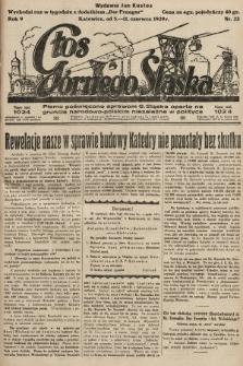 Głos Górnego Śląska : pismo poświęcone sprawom G. Śląska oparte na gruncie narodowo-polskim niezależne w polityce. 1929, nr23