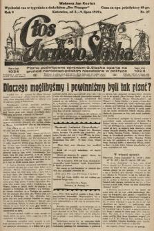 Głos Górnego Śląska : pismo poświęcone sprawom G. Śląska oparte na gruncie narodowo-polskim niezależne w polityce. 1929, nr27
