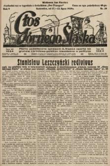 Głos Górnego Śląska : pismo poświęcone sprawom G. Śląska oparte na gruncie narodowo-polskim niezależne w polityce. 1929, nr29