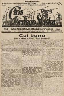 Głos Górnego Śląska : pismo poświęcone sprawom G. Śląska oparte na gruncie narodowo-polskim niezależne w polityce. 1929, nr31