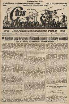 Głos Górnego Śląska : pismo poświęcone sprawom G. Śląska oparte na gruncie narodowo-polskim niezależne w polityce. 1929, nr32