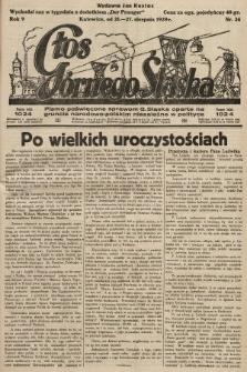 Głos Górnego Śląska : pismo poświęcone sprawom G. Śląska oparte na gruncie narodowo-polskim niezależne w polityce. 1929, nr34