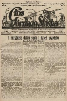 Głos Górnego Śląska : pismo poświęcone sprawom G. Śląska oparte na gruncie narodowo-polskim niezależne w polityce. 1929, nr37