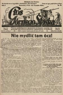 Głos Górnego Śląska : pismo poświęcone sprawom G. Śląska oparte na gruncie narodowo-polskim niezależne w polityce. 1929, nr38