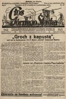 Głos Górnego Śląska : pismo poświęcone sprawom G. Śląska oparte na gruncie narodowo-polskim niezależne w polityce. 1929, nr39