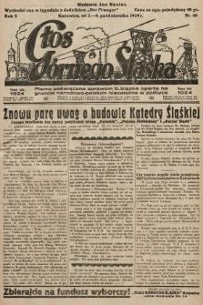Głos Górnego Śląska : pismo poświęcone sprawom G. Śląska oparte na gruncie narodowo-polskim niezależne w polityce. 1929, nr40