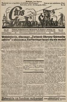 Głos Górnego Śląska : pismo poświęcone sprawom G. Śląska oparte na gruncie narodowo-polskim niezależne w polityce. 1929, nr46