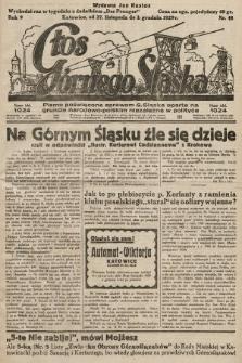 Głos Górnego Śląska : pismo poświęcone sprawom G. Śląska oparte na gruncie narodowo-polskim niezależne w polityce. 1929, nr48