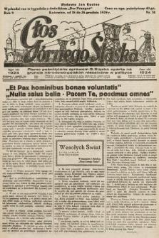 Głos Górnego Śląska : pismo poświęcone sprawom G. Śląska oparte na gruncie narodowo-polskim niezależne w polityce. 1929, nr51