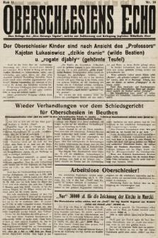 Głos Górnego Śląska : pismo poświęcone sprawom G. Śląska oparte na gruncie narodowo-polskim niezależne w polityce. 1931, nr38
