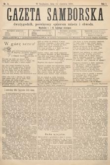 Gazeta Samborska : dwutygodnik poświęcony sprawom miasta iobwodu. 1894, nr6