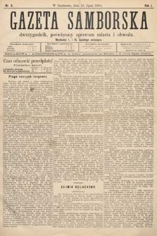 Gazeta Samborska : dwutygodnik poświęcony sprawom miasta iobwodu. 1894, nr8