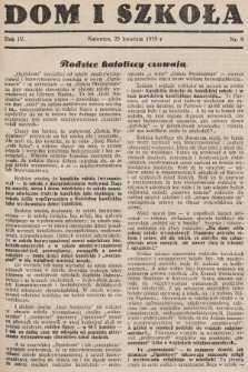Dom i Szkoła. 1933, nr9