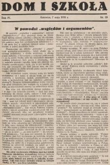 Dom i Szkoła. 1933, nr10