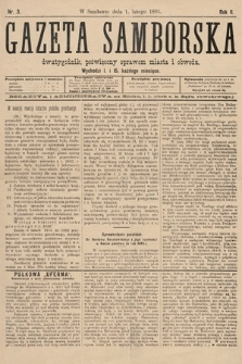 Gazeta Samborska : dwutygodnik poświęcony sprawom miasta iobwodu. 1895, nr3