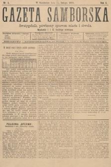 Gazeta Samborska : dwutygodnik poświęcony sprawom miasta iobwodu. 1895, nr4
