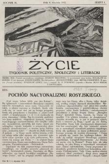 Życie : tygodnik polityczny, społeczny i literacki. 1912, z.1