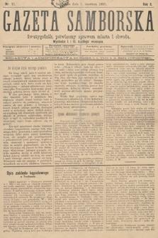 Gazeta Samborska : dwutygodnik poświęcony sprawom miasta iobwodu. 1895, nr11