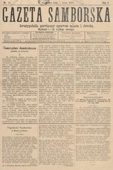Gazeta Samborska : dwutygodnik poświęcony sprawom miasta iobwodu. 1895, nr13